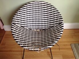 Lovely black and white vintage 60's chair
