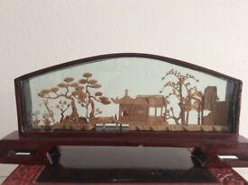 Early Chinese Oriental Display Screen Ornamen