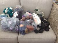 Job lot of vintage wool/yarn for knitting/crochet etc. New unused stored for years various colours