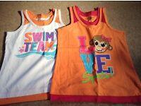 Two girls summer sport design tops size 7-8yrs by Danskin