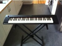 electric piano keyboard and stand (Electric Piaggero NP -11)
