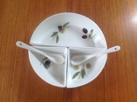 3 Section Serving Dish.