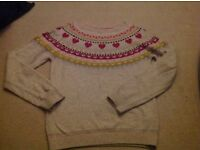 Girls M & S outfit kilt and jumper