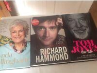 Books Lynda Bellingham - Richard Hammond -Tom Jones