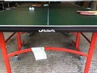 BUTTERFLY EASIFOLD TABLE TENNIS TABLE.