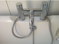 Solid brass chrome plated modern style bath mixer tap. Used but in excellent condition