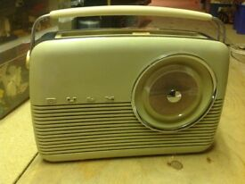This is an original bush radio compleat with original instructions.