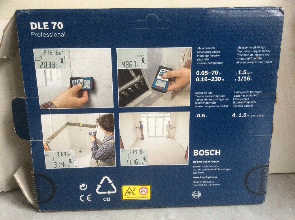 Bosch digital laser range finder dle professional in