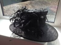 New black hat suitable for a wedding