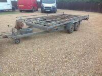 Car trailer transporter with ramps
