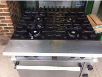 RESTAURANT COMMERCIAL CAFE KITCHEN COOKER 4 BURNER CATERING TAKEAWAY COMMERCIAL FASTFOOD