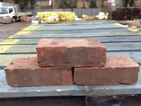 65MM HANDMADE WEATHERED RED STOCK BRICKS - LARGE STOCK