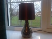 Small bronze crackle mosaic lamp suitable for bedroom or lounge
