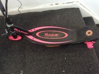 Razor electric scooter kids black and pink