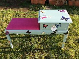 Beautiful butterfly telephone table