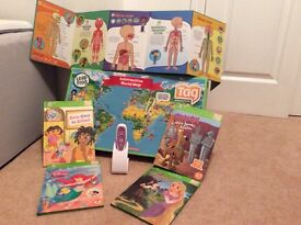 Leapfrog tag reader system -pen, books, map and body map