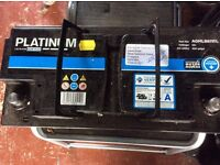Platinum 12 Volt Leisure battery AGM +. Fully charged