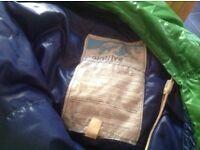 Down sleeping bag