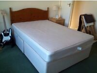 Double bed and headboard
