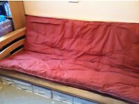Beech futon bed double size