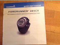 Garmin Forerunner GPS watch with heart rate monitor