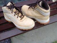Nike Nubuk tan boots 8.5