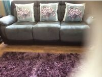 Rug cushions and picture all matching very good condition also beautiful chair