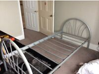 Metal Single bed with rollout underneath for sale