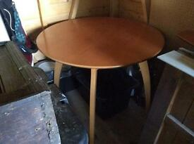 Solid Cherry Dining Rm Table plus 4 Chairs and Free matching Side Table