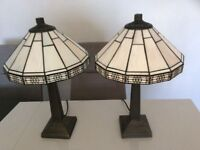 2 matching Tiffany table lamps