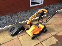 Worx Electric Lawnmower and Grass trimmer