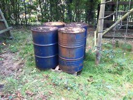 Used 205 ltr / 45 Gallon Steel drum oil drum
