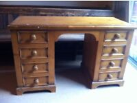Bespoke Antique Pine Apothecary Desk or Dressing Table in Need of TLC / Can Deliver