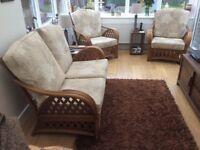 3 Piece Wicker Consevatory Furniture