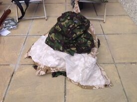 Large selection of military type clothing