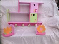 For Sale Floral wooden shelves and bookends EH9 Blackford
