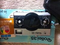 Rollei 35 with accessories and case