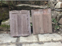 Approx 2500 Redland 50 Concrete Double Roman Roof Tiles - Dark Red/Brown