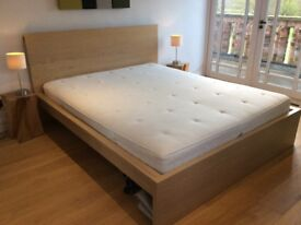 King Size Ikea Malm bed and mattress, perfect condition!