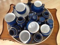 Denby Imperial Blue crockery, excellent condition.