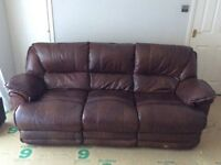 Leather Electric Reclining Sofas