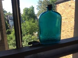 Pretty blue glass bottle