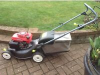 "Honda Izzy 4.5hp 16"" cut rotary push lawnmower."
