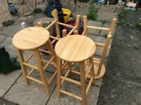 4 brand new wooden stools £15