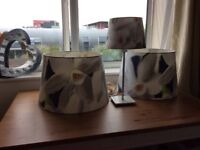 Set of 2 lampshades and matching table lamp from ikea
