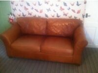 Leather sofa, Marks and Spencers