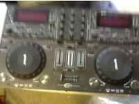 Gemini dual cd mixer deck