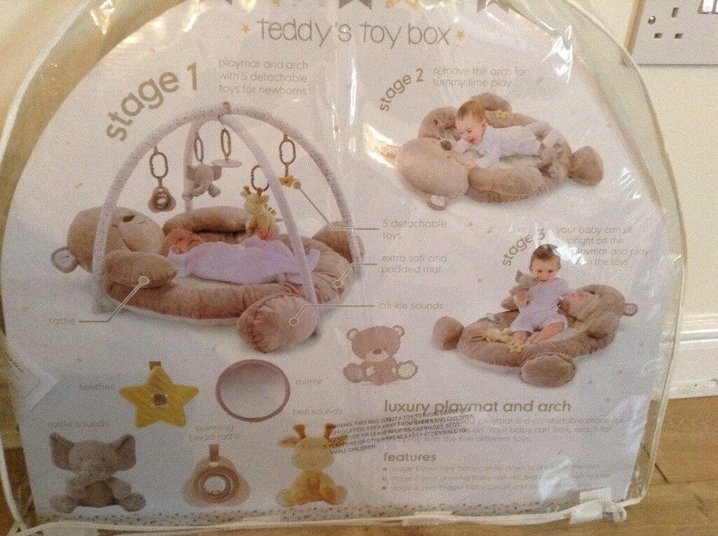 Mothercare teddy play mat and arch