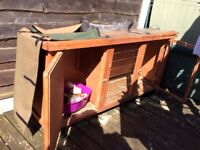 Used Guinea pig hutch, and cover with accessories