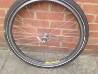 "26"" front bicycle wheel"